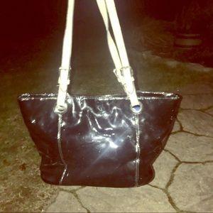 Handbags - Leather handles Patton leather largshiny metallic